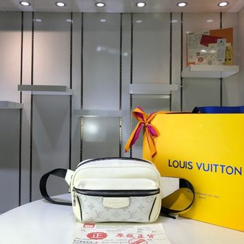 Kuyou Lv Louis Vuitton Gb29714 M30247 K45 Bags All Collections White Outdoor Bumbag 21x17x5cm