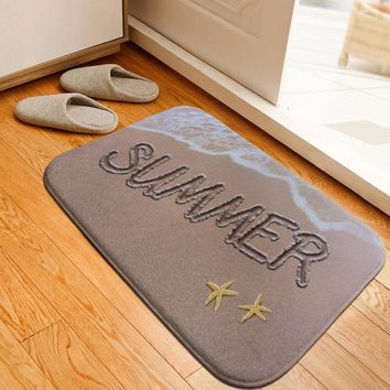 Autumn Fall welcome door mat doormat Welcome  Entrance Mat Hallway Simple Beach Printed Anti-Slip Floor Mat Area Rugs Funny Custom Front  Carpet AT_76_7