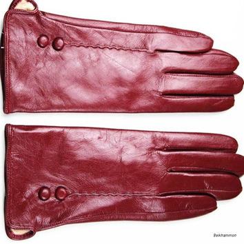 Ms. points finger leather gloves multicolor thin cashmere lined leather gloves warm cold autumn and winter special price