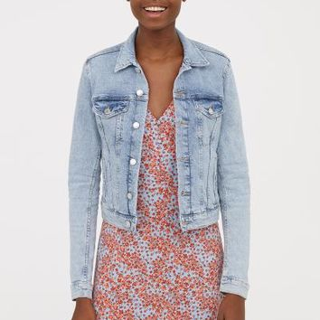 Denim Jacket - Light denim blue - Ladies | H&M US