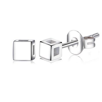 925 silver cube tiny studs earrings gift box  number 1