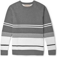 Casely-Hayford - Bradfield Flocked Cotton-Blend Jersey Sweatshirt | MR PORTER