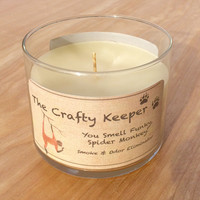 You Smell Funky, Spider Monkey - Animal Candles for Conservation - Smoke & Odor Eliminator Scented White Candle