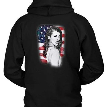 Lana Del Rey American Fan Art Illustrations Hoodie Two Sided