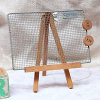 organon mesh easel jewelry stand/magnetic board - $26.99 : ShopRuche.com, Vintage Inspired Clothing, Affordable Clothes, Eco friendly Fashion
