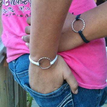 Eternity Bracelets Couples Matching Rustic Set of 2 You Choose Color