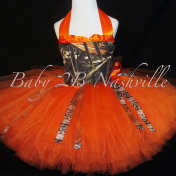 Orange Camo Costume Tutu Set Hunter Costume by Baby2BNashville