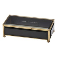kate spade new york 'when in doubt, add something sparkling' glass jewelry box | Nordstrom