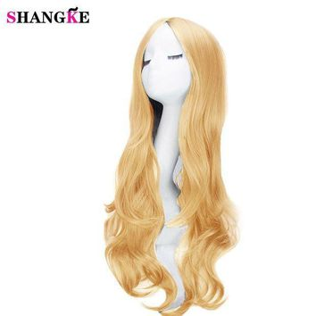 ESBONT SHANGKE 26'' Hair Long Wavy African American Synthetic Wigs For Black Women Natural Black Wigs Heat Resistant Fiber Hair