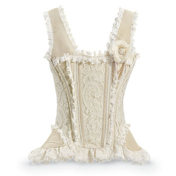 Venetian Lace and Taffeta Corset                   - New Age, Spiritual Gifts, Yoga, Wicca, Gothic, Reiki, Celtic, Crystal, Tarot at Pyramid Collection