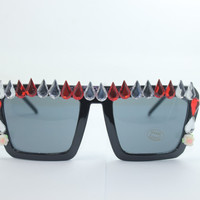 Women's Cute Lovely Summer Style Hot Fashion Fimo Flower Sunglasses = 4672225412