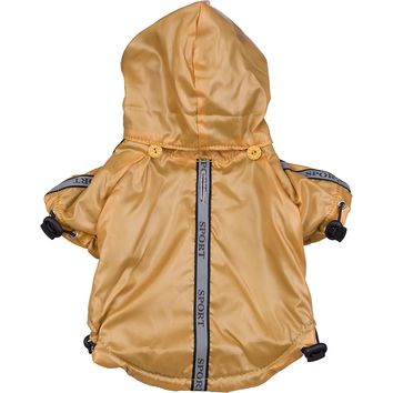 Reflecta-Sport Adustable Reflective Weather-Proof Pet Rainbreaker Jacket - Mustard Yellow: X-Small