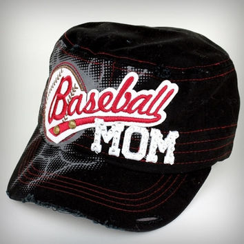 Baseball Mom Hat (Black)