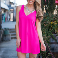 Bright Club Dress, Hot Pink