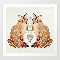 fox love Art Print by Manoou