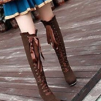 Women's Winter Warm Snow Boots Two-Way Over Knee Shoes Basical Jackboots = 1946907524