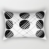 Black & White Graphic 3 Rectangular Pillow by marcogonzalez