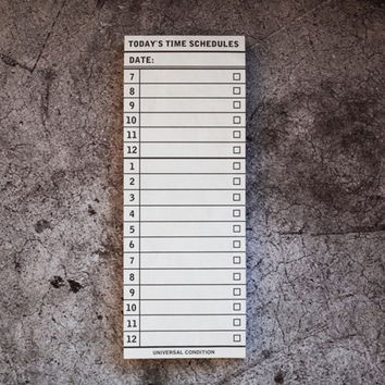 Today's time scheduler planner notepad