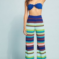 Zig-Zagged Beach Pants