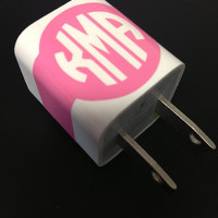 Monogram iPhone/ iPadCharger Decal by CalisCases on Etsy