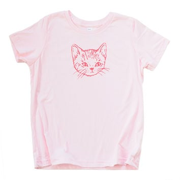 Light Pink Kitten Tee