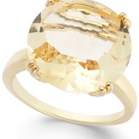 Victoria Townsend Citrine Cocktail Ring in 18k Gold over Sterling Silver (10-1/2 ct. t.w.) | macys.com