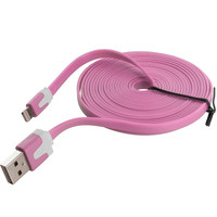 Light Pink Noodle Lightning Data Sync Cable Charger (10FT) for Apple iPhone 6 / 6S (4.7)