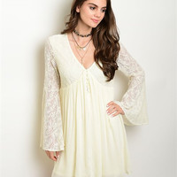 Boho Lace Swing Dress
