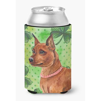 Miniature Pinscher St Patrick's Can or Bottle Hugger BB9830CC