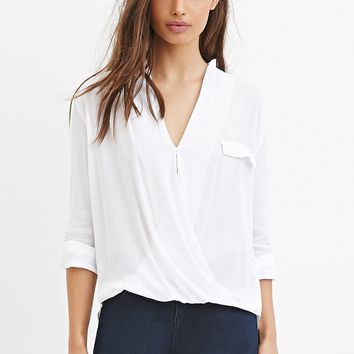Pocket Surplice Top