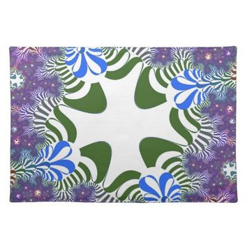Purple Floral Cross Pattern Placemat