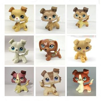 Pet shop lps toy action standing collection short hair 27 cats big dane dog garden dog dachshund lps dog dachshund colli