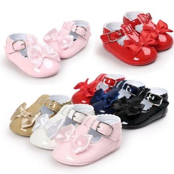 Newborn Baby Girl Princess Crib Shoes Toddler Soft Sole Sandal Sneaker Prewalker