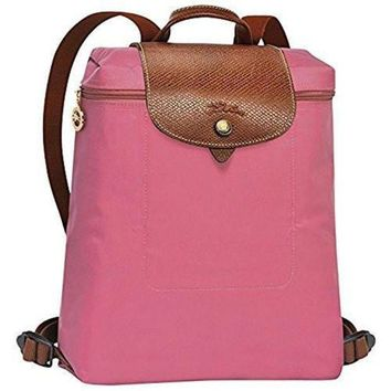 PEAPGE2 Beauty Ticks Longchamp Le Pliages Backpack Peony