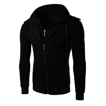 Winter Korean Slim Hats Men Hoodies Zippers Jacket [6528753283]