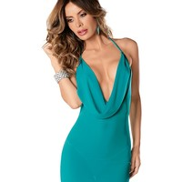 Provocative Plunging Neck Halter