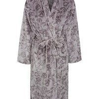 Floral Print Fleece Dressing Gown | Women | George at ASDA