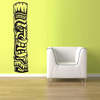rvz933 Wall Vinyl Sticker Bedroom Decal Totem India Inks Tiki Old Figure Symbol Z933