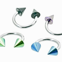 "Pack of 4 - Horseshoe Rings (14g) 1.6mm X 10mm 3/8""- For Nipple, Lip, Eyebrow, Belly, Earring, Septum."