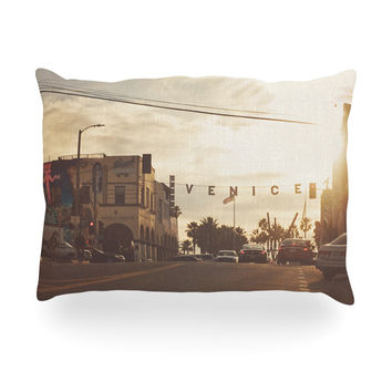 "Myan Soffia ""Winter in Venice"" Clouds Sky Oblong Pillow"