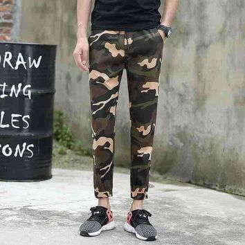 #1724 2018 Ankle-length Military pencil pants Joggers High street trousers Camouflage pants fashion Track pants Slim sweat pants