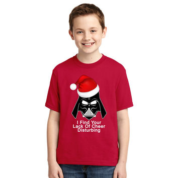 I Find Your Lack Of Cheer Disturbing Darth Vader Christmas Funny Youth T-shirt