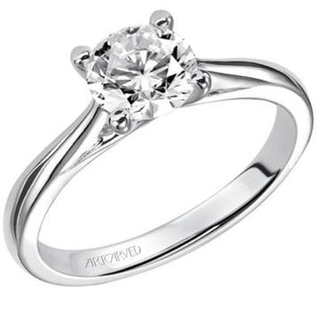 "Artcarved ""Lindsey"" Diamond Solitaire Engagement Ring"