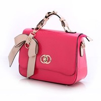 Candy Color Bowknot Small Shoulder Messenger Hand Bag Tote