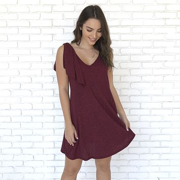 Left My Mark Party Dress In Burgundy