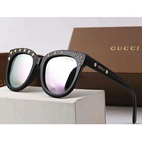 GUCCI Trending Women Men Casual Rivet Sunglasses Sun Shades Eyeglasses Glasses Couples Style I-A-SDYJ