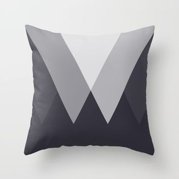 Sawtooth Inverted Blue Grey Throw Pillow by Trevor May
