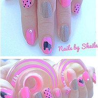 Derby skate nail decal
