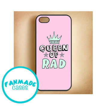 Queen of Rad iPhone 4/4s 5/5s/5c, iPod 4/5, Samsung Galaxy s3/s4 Rubber Case