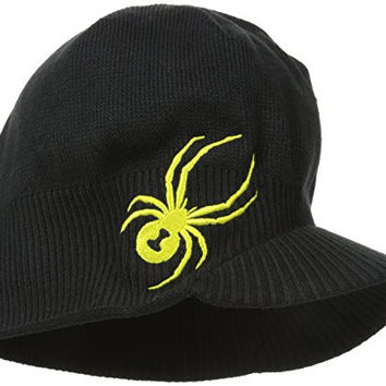 Spyder Boys Brim Hat, One Size, Black/Acid